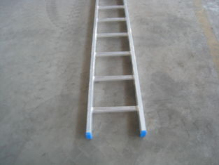 China Single Straight Aluminium Step Ladder For Scaffolding System Safe Durable supplier