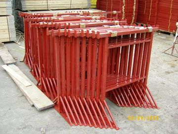 China Red Scaffolding Prop Adjustable Steel Trestles / Steel Builders Trestles Size 3 supplier
