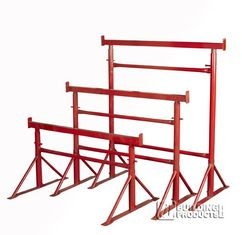 China Painted Adjustable Steel Trestles / Industrial  Builders Trestles For Construction supplier