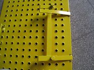 China Yellow Scaffolding Ladder Steel Trap Door / Ladder Access Hatch Door For Construction factory