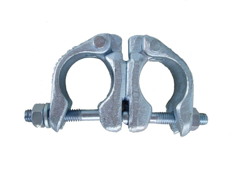 Pressed Double Coupler : Galvanized double scaffolding swivel coupler pressed