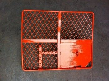 Red Scaffolding Ladder Access Steel Trap Door Frame For Falling Protection