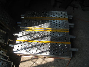 Galvanized Industrial Safety Steel Stair Treads / Grating Metal Step Treads