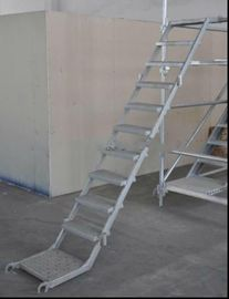 Multi Purpose Scaffolding Steel Step Ladder / Durable Scaffold Access Ladder Tower