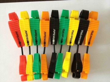Colorful Safety Plastic Working Glove Guard Clip , Glove Holder Clip