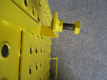 Yellow Powder coated Scaffolding Steel Ladder Trap Door For Construction Protection
