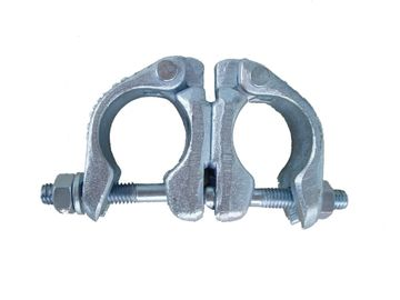 Galvanized Double Scaffolding Swivel Coupler , Pressed Sleeve Coupler British Style